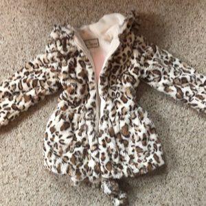 Girls animal print dress coat